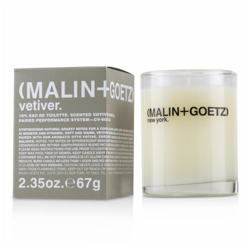 Malin + Goetz Scented Votive Candle  Vetiver 2.35 oz Perspective: front