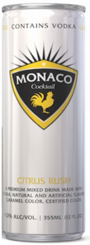 Monaco Citrus Rush Cocktail Perspective: front