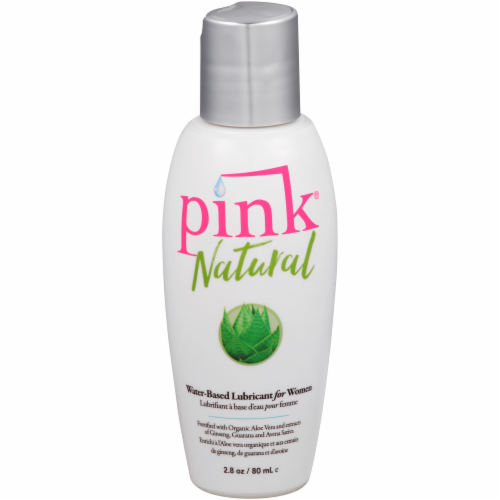 Pink Natural Women's Water-Based Lubricant Perspective: front