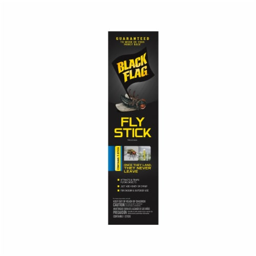 Black Flag Fly Stick Perspective: front