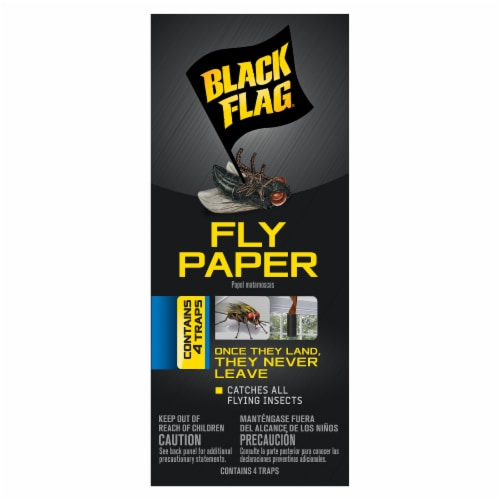 Black Flag Fly Paper Traps Perspective: front