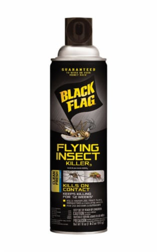 Black Flag Clean Fresh Scent Flying Insect Killer Spray Perspective: front