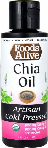 Foods Alive  Organic Artisan Cold Pressed Oil   Chia Perspective: front