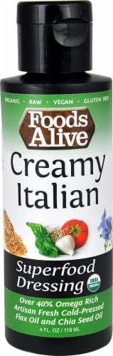 Foods Alive  Superfood Dressing   Creamy Italian Perspective: front