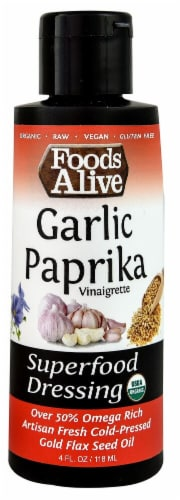 Foods Alive  Organic Superfood Dressing   Garlic Paprika Perspective: front