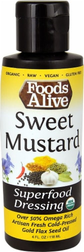 Foods Alive  Superfood Dressing   Sweet Mustard Perspective: front