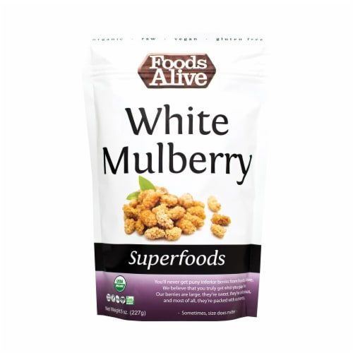 Foods Alive  Organic Superfoods   White Mulberry Perspective: front