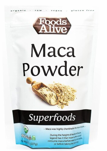 Foods Alive  Organic Superfoods Maca Powder RAW Perspective: front