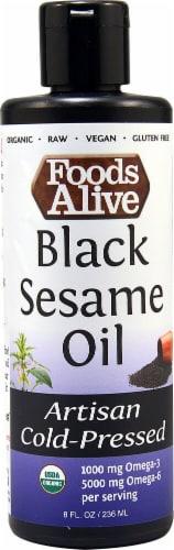 Foods Alive  Organic Black Sesame Oil Perspective: front