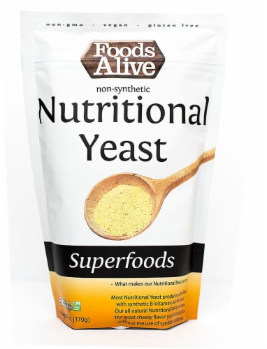 Foods Alive  Nutritional Yeast Non-Synthetic Perspective: front