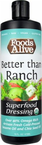 Foods Alive  Superfood Dressing   Better than Ranch Perspective: front