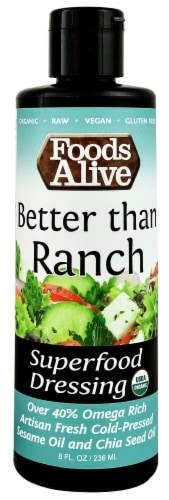 Foods Alive  Organic Superfood Dressing   Vegan Ranch Perspective: front
