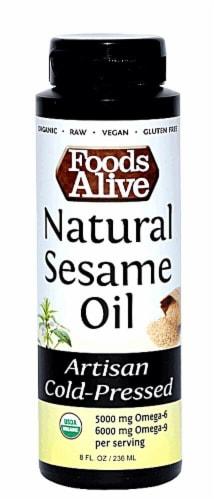 Foods Alive  Natural Sesame Oil Cold-Pressed Perspective: front