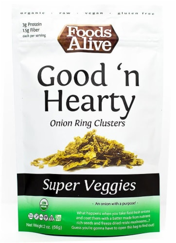 Foods Alive  Good n Hearty Organic Onion Ring Clusters Perspective: front