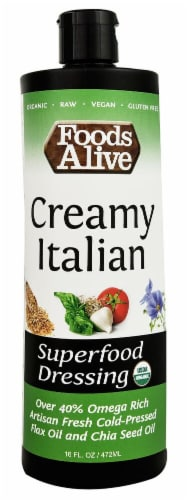 Foods Alive  Organic Superfood Dressing   Creamy Italian Perspective: front