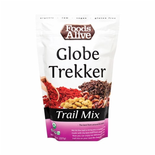 Foods Alive Organic Globe Trekker Trail Mix Perspective: front