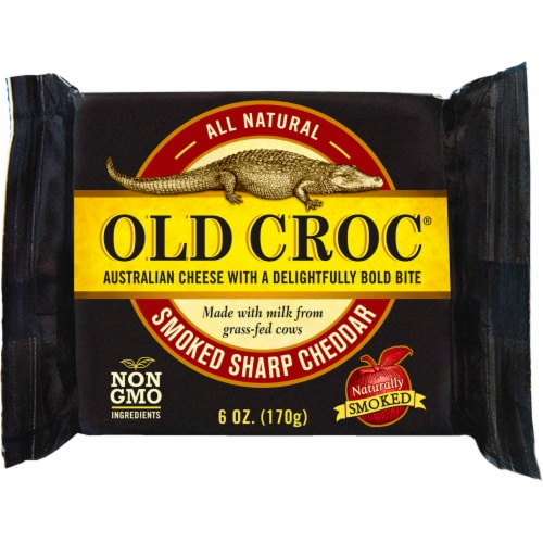Old Croc Smoked Sharp Cheddar Perspective: front