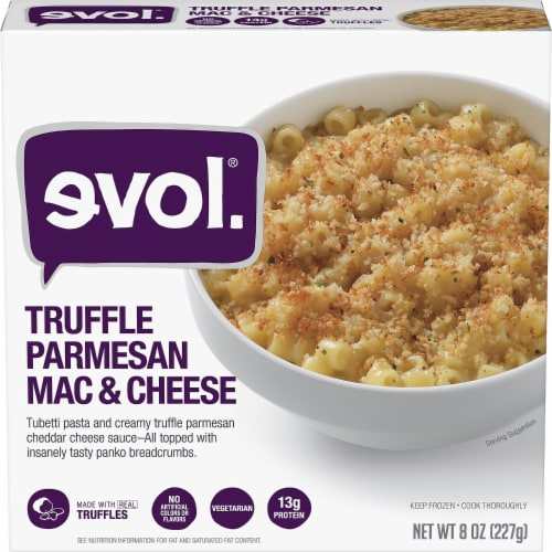 evol. Truffle Parmesan Mac & Cheese Perspective: front
