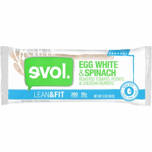 Evol Lean & Fit Egg White & Spinach Burrito Perspective: front