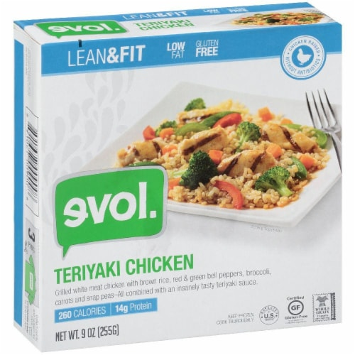 evol. Lean & Fit Teriyaki Chicken Perspective: front
