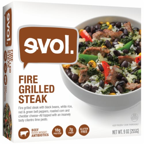 evol. Fire Grilled Steak Bowl Perspective: front