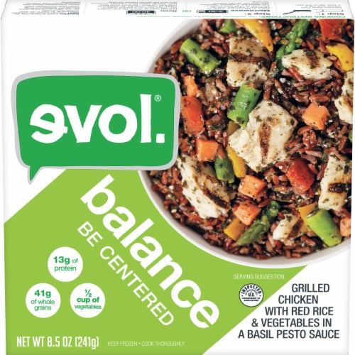 Evol Balance Be Centered Chicken with Rice and Vegetables Bowl Perspective: front