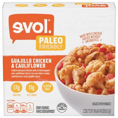 evol. Guajillo Chicken & Cauliflower Bowl Perspective: front