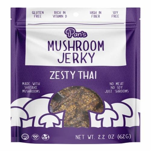 Pan's  Mushroom Zesty Thai Jerky Perspective: front