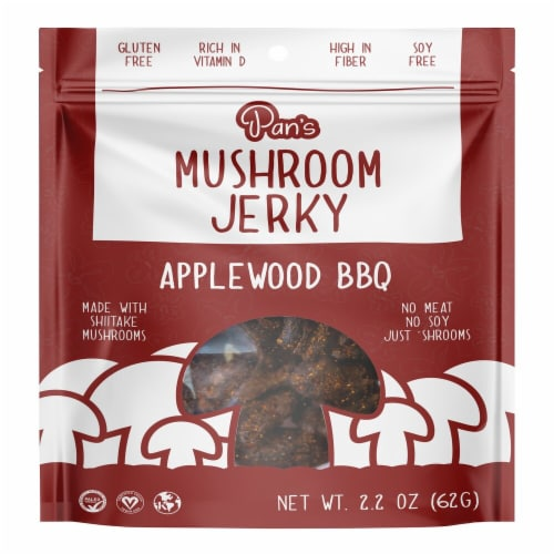 Pan's  Mushroom Applewood BBQ Jerky Perspective: front