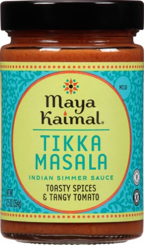 Maya Kaimal Tikka Masala Mild Indian Simmer Sauce Perspective: front