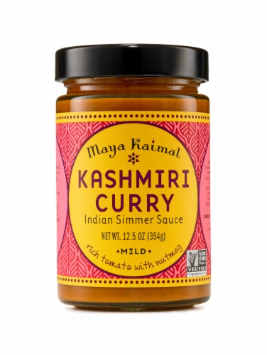 Maya Kaimal Kashmiri Curry Mild Indian Simmer Sauce Perspective: front