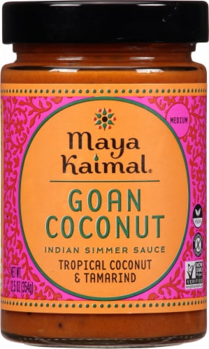 Maya Kaimal Goan Coconut Indian Simmer Sauce Perspective: front