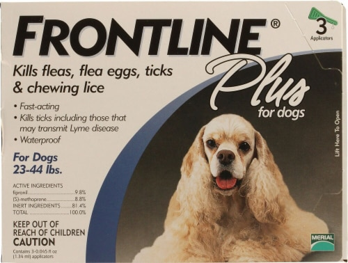 Frontline Plus  for Dogs 23-44 lbs Perspective: front