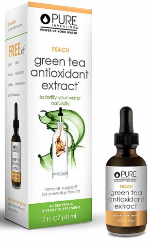 Pure Inventions  Green Tea Antioxidant Extract   Peach Perspective: front
