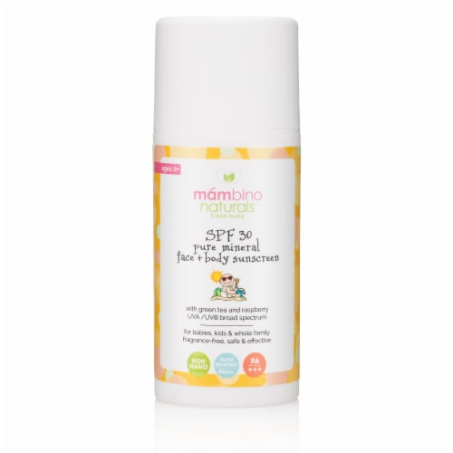 Mambino Naturals Fresh Baby Pure Mineral Face + Body Sunscreen SPF 30 Perspective: front
