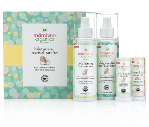 Mambino Organics  Fresh Baby Baby Arrival Essential Care Kit Perspective: front