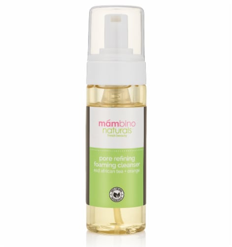 Mambino Naturals Pore Refining Foaming Cleanser With Red African Tea + Orange Perspective: front