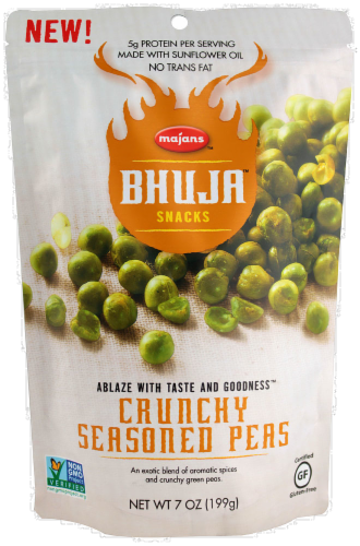 Majans Bhuja Crunchy Seasoned Peas Perspective: front