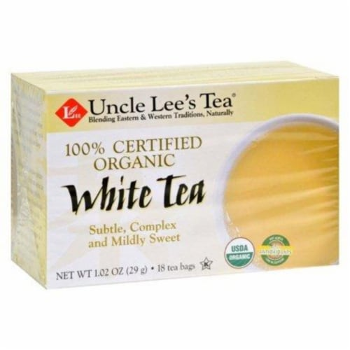 Uncle Lee's Tea 100% Certified Organic White Tea - Case of 6 - 18 Bag Perspective: front