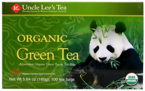 Uncle Lee's Organic Green Tea Perspective: front