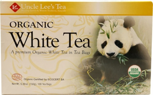 Uncle Lee's Organic White Tea Bags Perspective: front