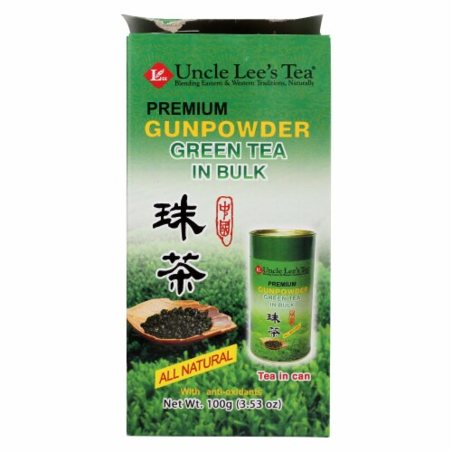 Uncle Lee's Premium Gunpowder Green Tea in Bulk - 5.29 oz Perspective: front