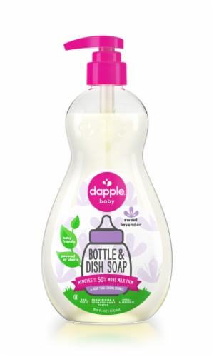 Dapple Pure 'N' Clean Lavender Bottles & Dishes Washing Liquid Perspective: front