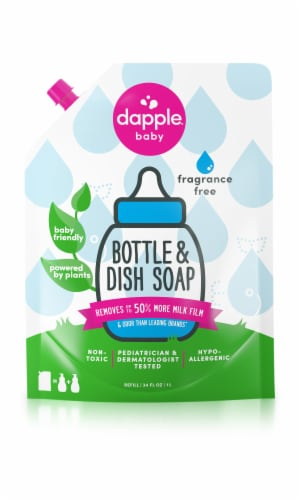 Dapple Baby Fragrance Free Bottle & Dish Liquid Soap Perspective: front