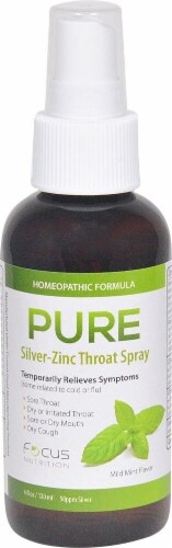 Pure  Homeopathic Silver-Zinc Throat Spray   Mild Mint Perspective: front