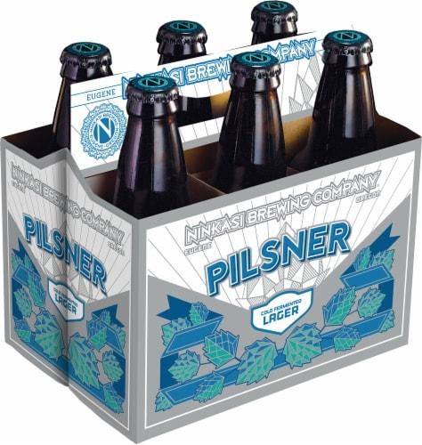 Ninkasi Pilsner Cold Fermented Lager Beer Perspective: front