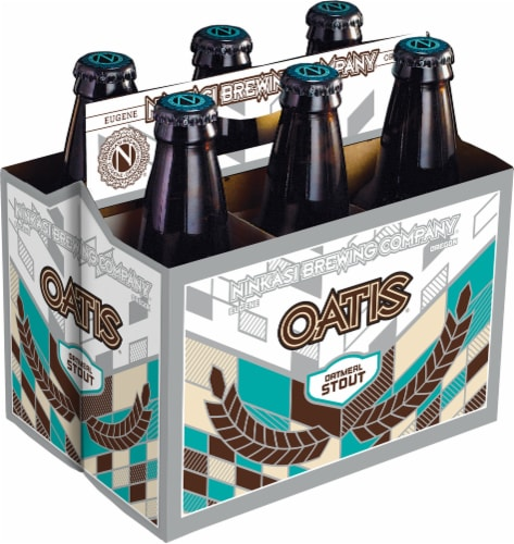 Ninkasi Oatis Oatmeal Stout Beer Perspective: front