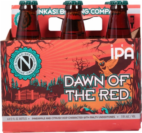 Ninkasi Dawn of the Red IPA Beer Perspective: front
