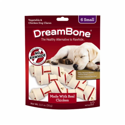DreamBone Small Vegetable & Chicken Dog Chews 6 Count Perspective: front