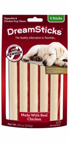 DreamSticks Vegetable & Chicken Dog Chews Perspective: front
